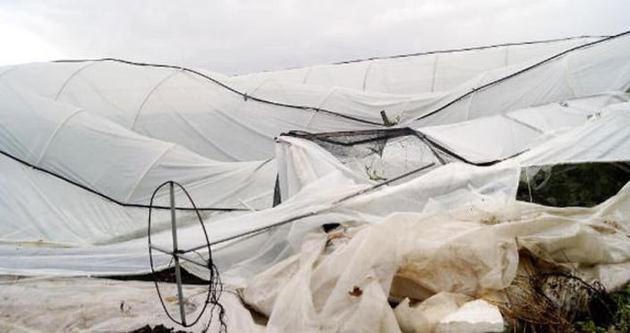 Hortum Antalya'da seraları vurdu