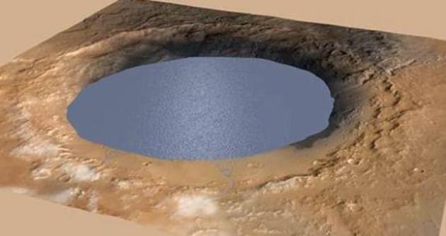 Mars'ın en eski gölü fotoğraflandı!