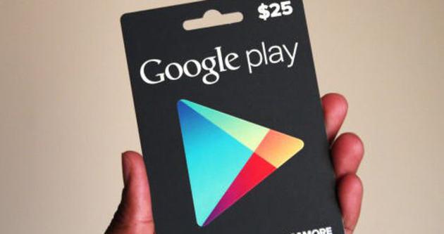 Google Play hediye kartları artık ülkemize