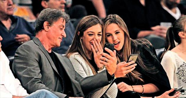 Stallone'un Lakers gecesi