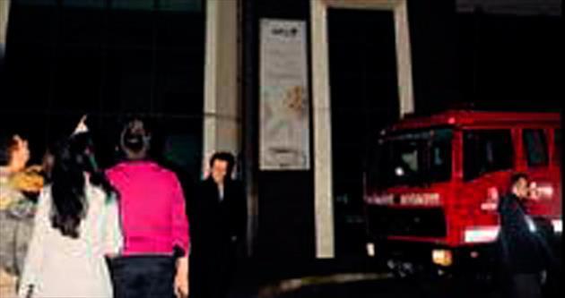Ortaköy'de lüks otelde korkutan yangın