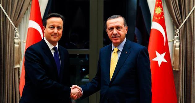 Erdoğan, Cameron'u yemekte ağırladı