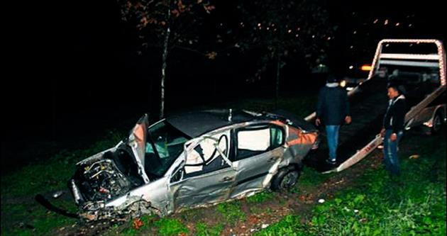 Polisten kaçan şüpheli kaza yaptı