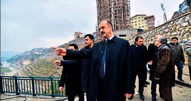 Başkan Akgül Kule'yi inceledi