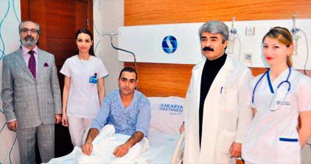 Kahraman işçi ameliyat oldu