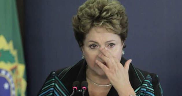 Brezilya Başkanı Roussef böyle ağladı!