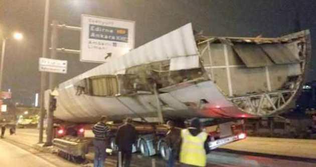E-5 Avcılar mevkiinde uçak kazası