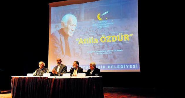 Usta yazar Atilla Özdür'e saygı gecesi