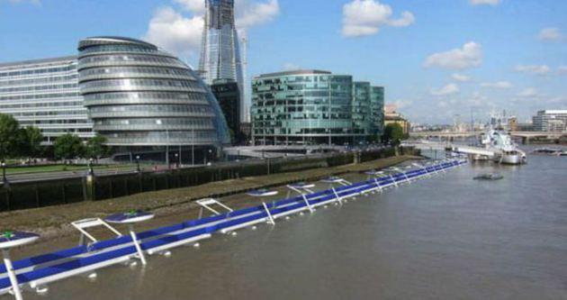 Thames Nehri'ne yüzen bisiklet yolu!