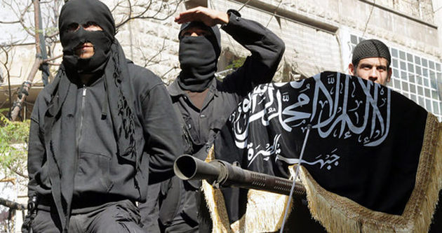Şii militanların roketle vurulma anı