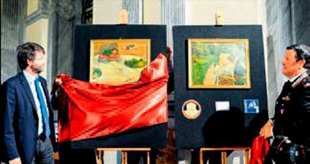 Çalıntı tablolar satın alanda kaldı