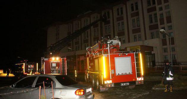 Siirt'te kız öğrenci pansiyonunda yangın