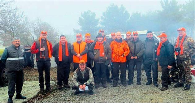 Macar avcılardan Kırıkkale'de domuz avı