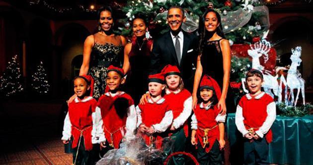 Obama'ların Noel özeni