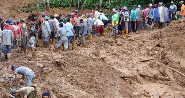 Endonezya'daki heyelanda ölü sayısı 79