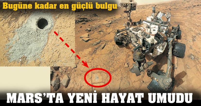 Mars'ta yeni hayat umudu