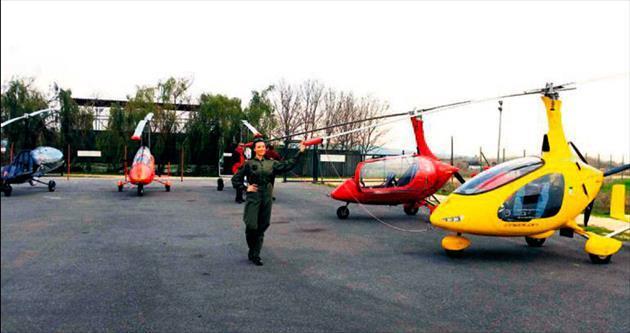 İlk kadın gyrocopter pilotu diyabetliler için uçtu
