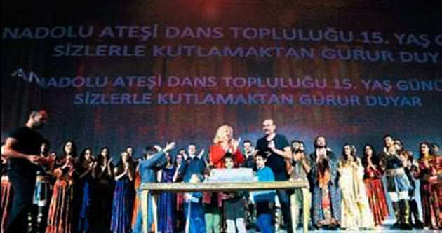 Anadolu Ateşi 15'inci yaşını pastayla kutladı