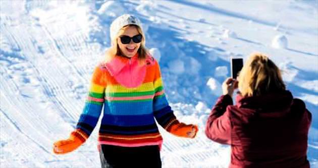 Kartalkaya'da kar sezonu açıldı