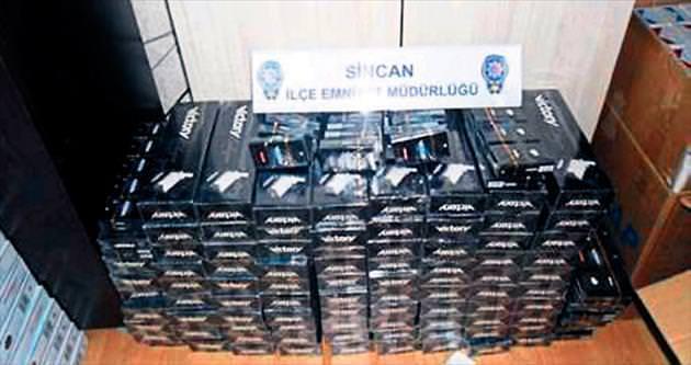 Sincan'da binlerce paket kaçak sigara ele geçirildi