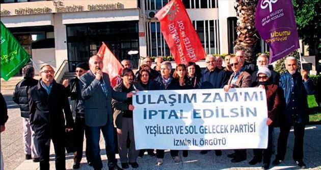 Ulaşım zammını protesto ettİler