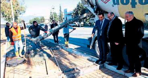 Pınar Caddesi'nde altyapı yenilendi