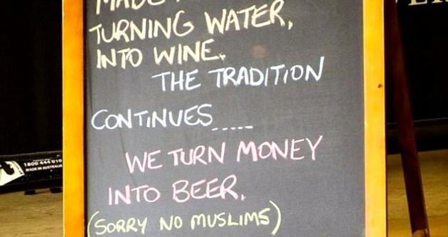 Avustralya'da Müslümanlar giremez tabelası!