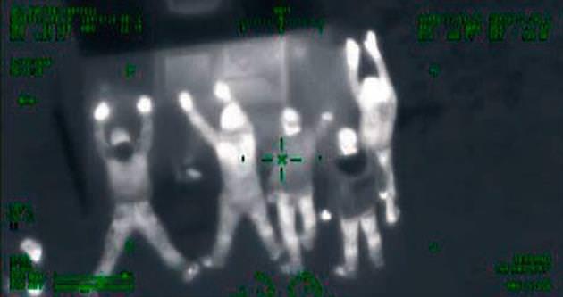 Gece görüşlü kamerayla ormanda hırsız avı