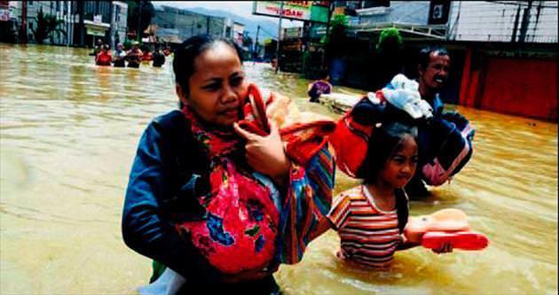 Felaketler ülkesini bu kez de sel vurdu