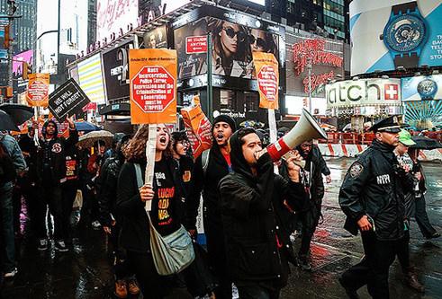 ABD'de Siyahi protestoları yılbaşını hedef aldı