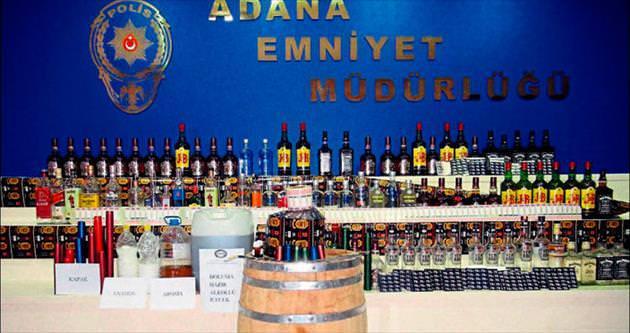Adana'da kaçak içki şebekesine ağır darbe