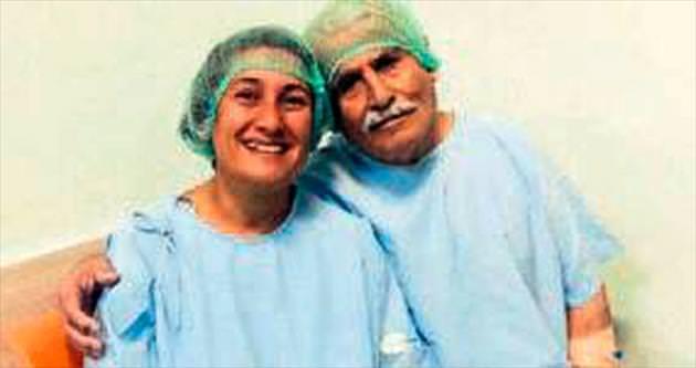 Karaciğerini verdi babasını kurtardı