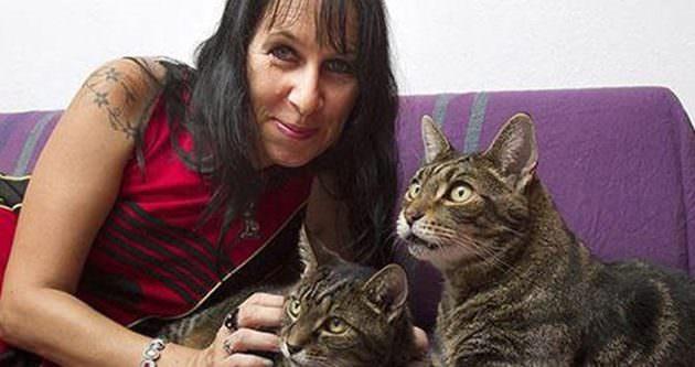 İngiliz kadın kedileriyle evlendi