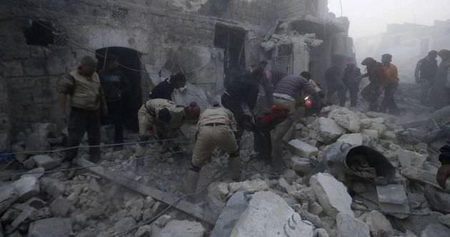 Halep'te hava saldırısı: 23 ölü