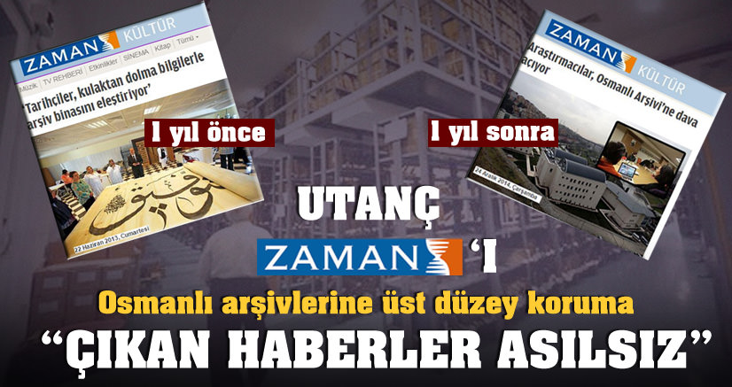 Osmanlı arşivleri için üst düzey koruma!