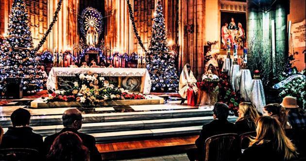 Noel ayinlerinde dualar barış için