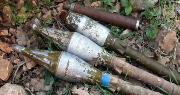 Sınırda 15 roketatar mermisi bulundu!