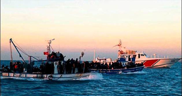 Mersin'de 241 göçmen yakalandı