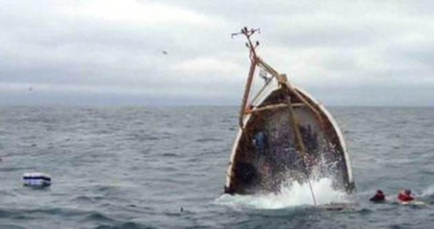 Beykoz'ta fırtına nedeniyle tekne battı