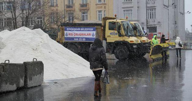 İstanbul'da kar yağışı 425 kamerayla izleniyor