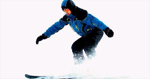 Kar yağdı kayak sezonu açıldı