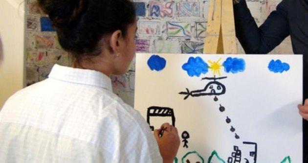 Suriyeli ressam, Şanlıurfa'da sergi açtı