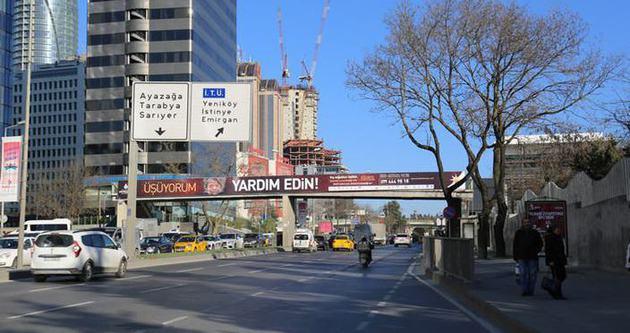İTÜ Ayazağa metro önü üst geçidi kaldırılıyor