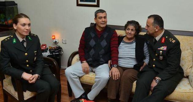 Korgeneral İyidil'den şehit ailelerine yeni yıl ziyareti