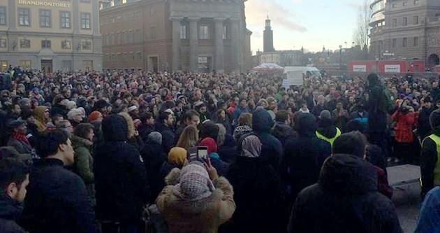 İsveçli müslümanlardan protesto