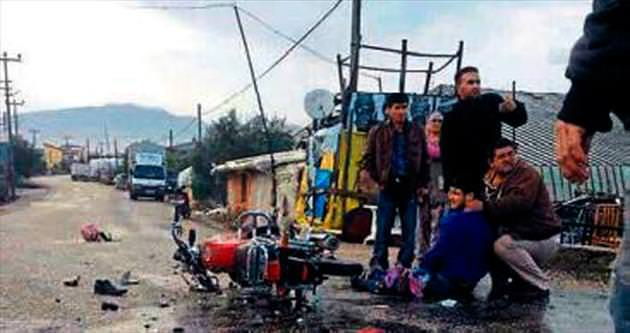 Suriyeli, motor kazasında öldü
