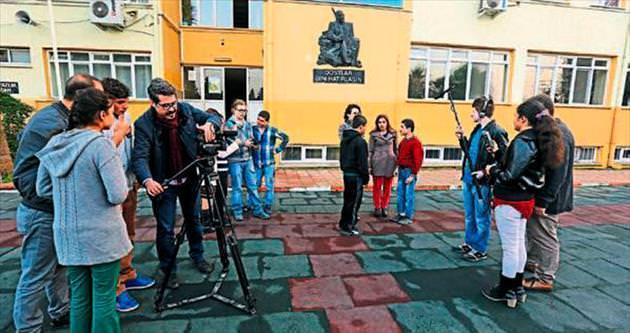 İşitme ve görme engelli öğrenciler film çekiyor