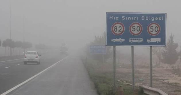Şanlıurfa'da sis ulaşımı olumsuz etkiliyor