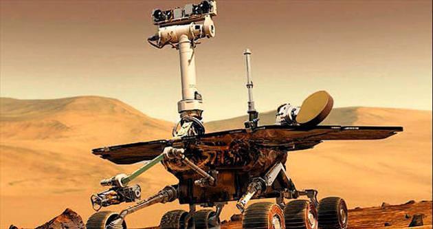 Mars robotu 'bunadı'