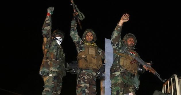Kobani'deki Peşmerge birliğinde nöbet değişimi